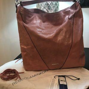 Rebecca Minkoff Moto Hobo Rosa Leather handbag